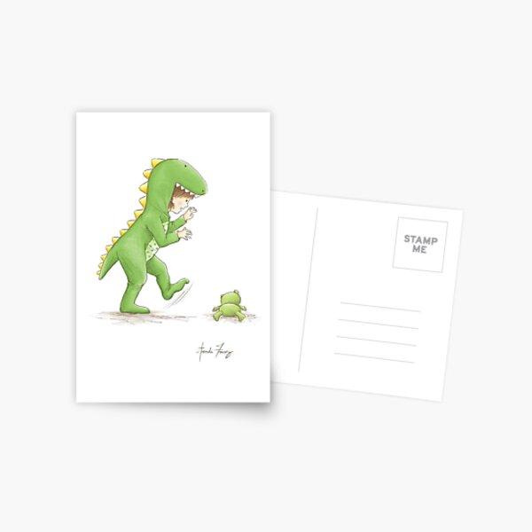 Onesie Crocodile Girl - Greeting Card Postcard