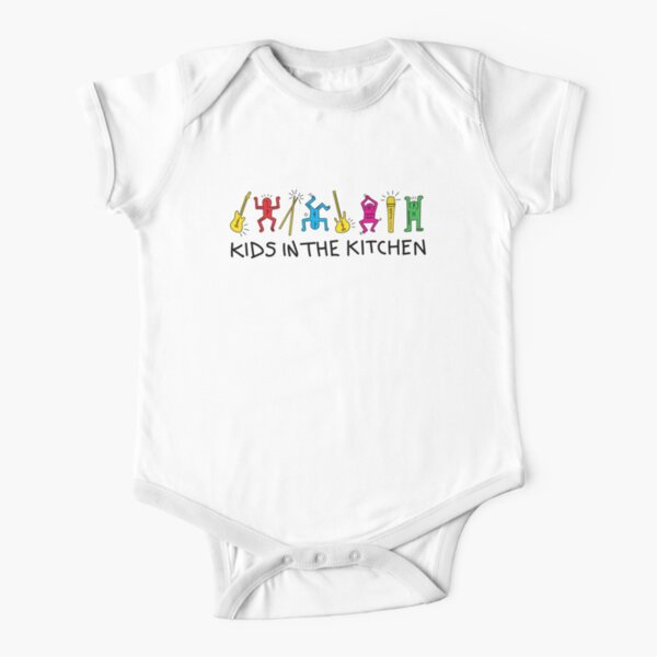 Kids In The Kitchen - Kids pop art Short Sleeve Baby One-Piece