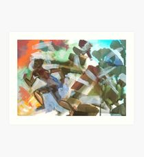 Running One - For Holocaust Memorial Day by Jenny Meehan  Art Print