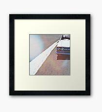 Headlight lamp vintage classic car Framed Print
