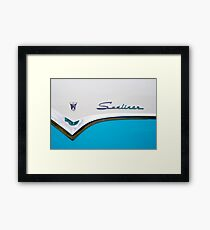 Sunliner in blue Framed Print