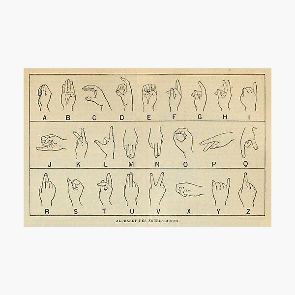 Finger Spelling Chart Photographic Print