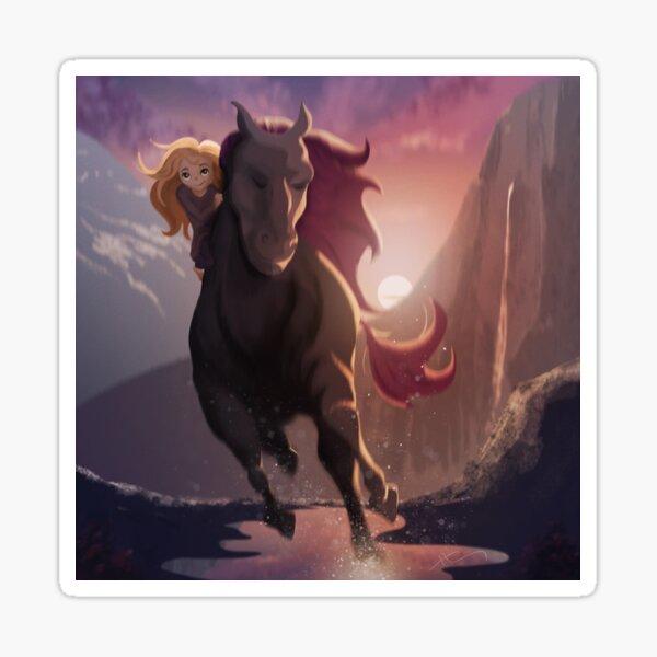 The Wild Horse The Gentle Girl Sticker