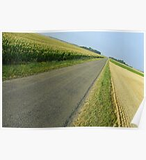 Straight country road Poster