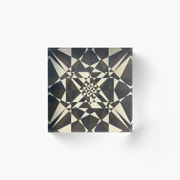 Encaustic Art Image Untitled 190610 Acrylic Block