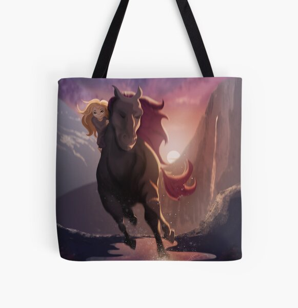 The Wild Horse The Gentle Girl All Over Print Tote Bag