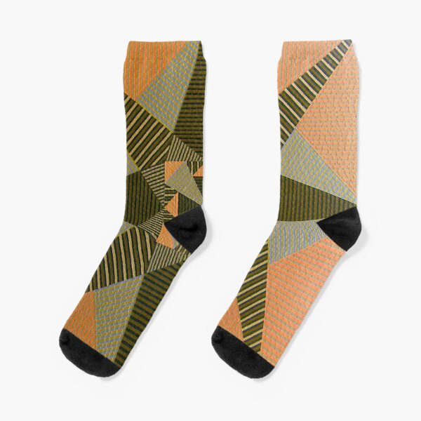 Encaustic Art Image Untitled 050907 Socks