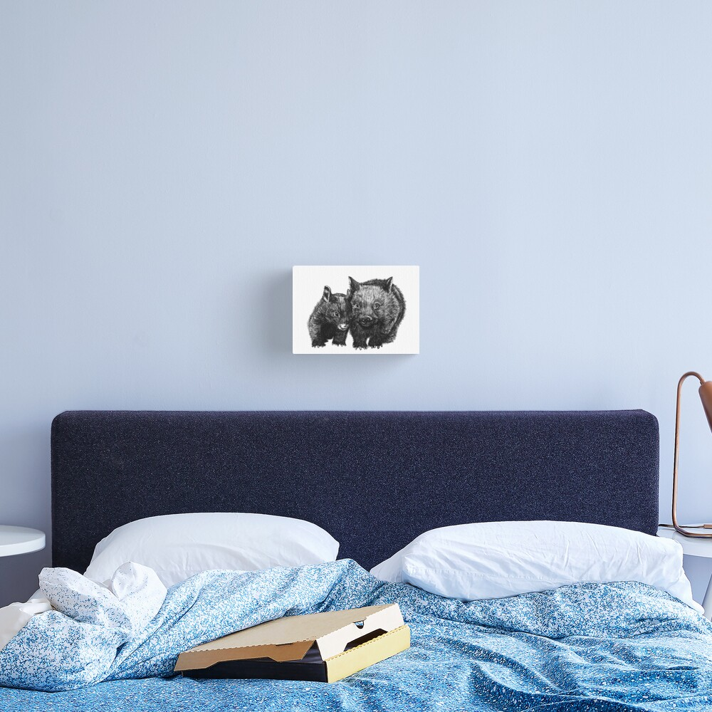 David and Betty Wombat Canvas Print