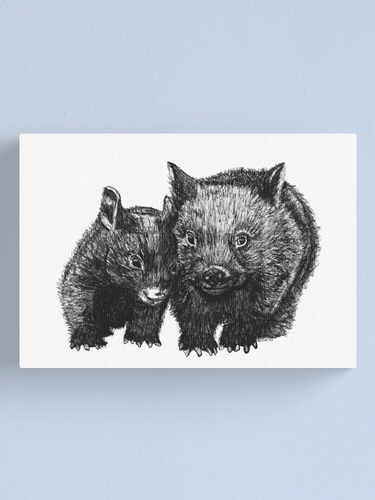 Alternate view of David and Betty Wombat Canvas Print