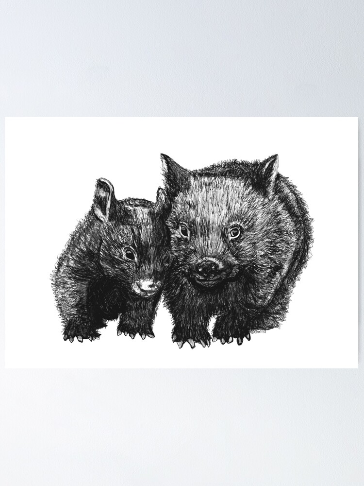 Alternate view of David and Betty Wombat Poster