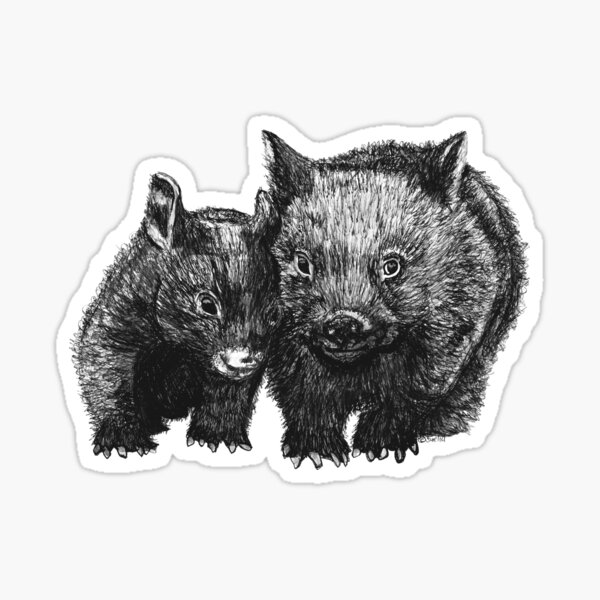 David and Betty Wombat Sticker