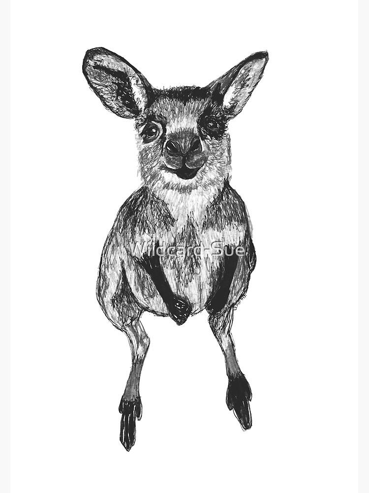 Josephine the Baby Kangaroo by Wildcard-Sue