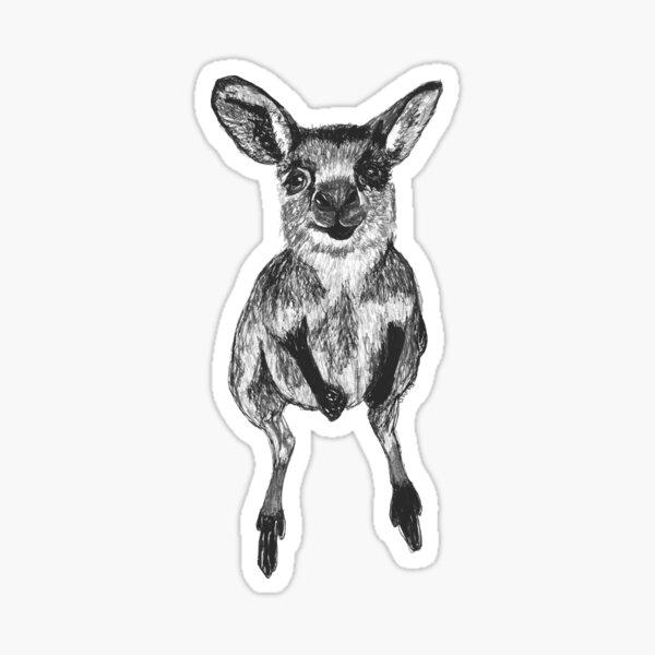 Josephine the Baby Kangaroo Sticker