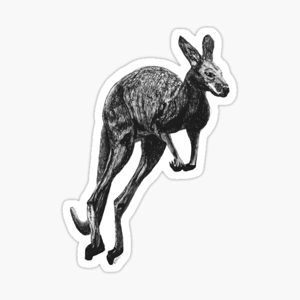 Johnny the Kangaroo Sticker