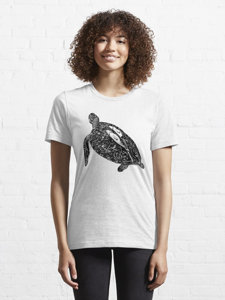 Alternate view of Lucy the Sea Turtle with Remora  Essential T-Shirt