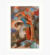 Contemplation/Christ and the tree (Garden of Gethsemane) by Jenny Meehan Art Print