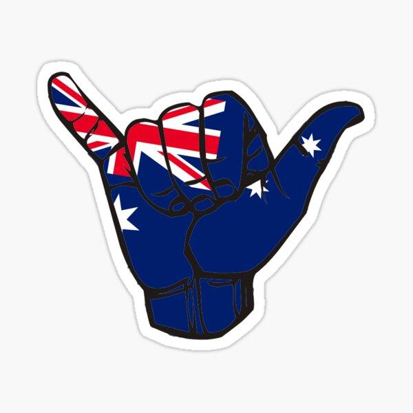 Australia Shaka Sticker Sticker