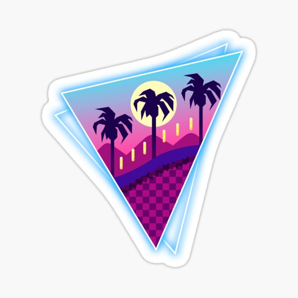 Rings Retro World Sticker