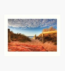 Blue holes beach, Kalbarri Art Print