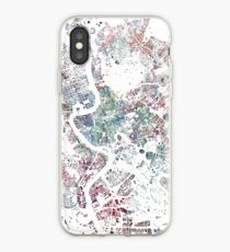 Rome map watercolor painting iPhone Case