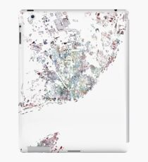 Lisbon map watercolor map iPad Case/Skin