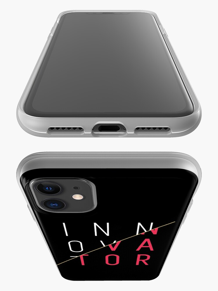 Alternate view of Innovator, Innovation, creativity, graphic, cool, funny shirt iPhone Case
