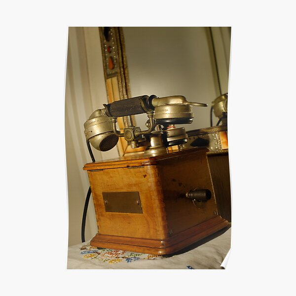 Antique Marty 1910 telephone Poster