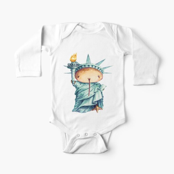 Liberty Kwii  for kid clothes Long Sleeve Baby One-Piece