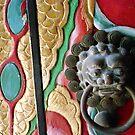 Temple door detail ....Hong Kong  by LynnEngland