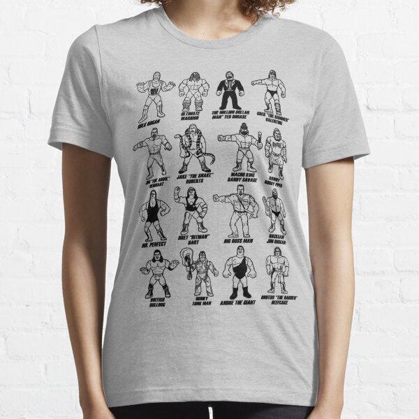 Retro Wrestling - Black Stencil Essential T-Shirt