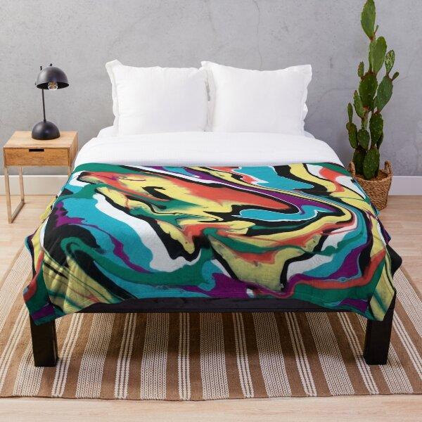 Colourful Swirl Throw Blanket