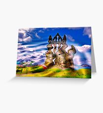 Abstract Whitby Abbey Greeting Card