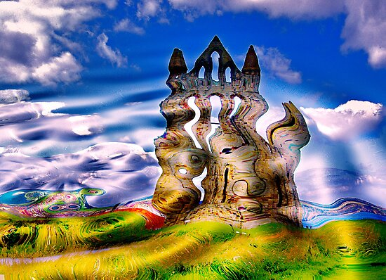 Abstract Whitby Abbey by Trevor Kersley