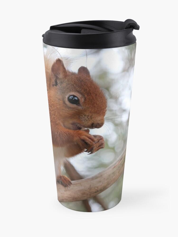 Alternate view of Red squirrel Travel Mug