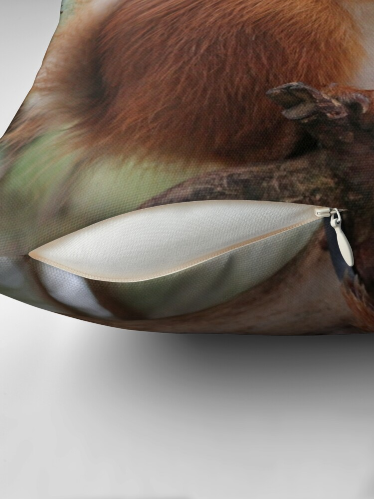 Alternate view of Red squirrel Throw Pillow