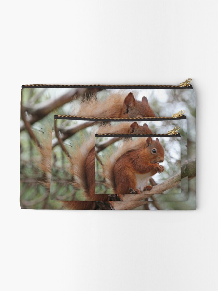 Alternate view of Red squirrel Zipper Pouch