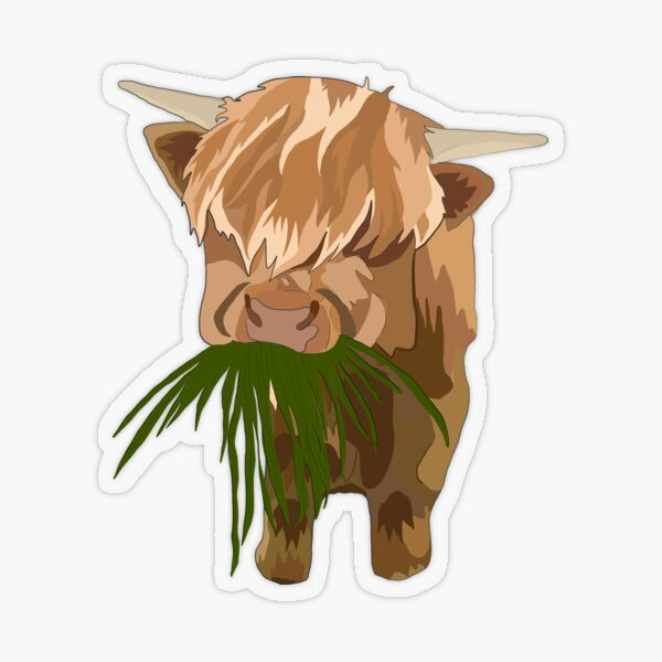 Highland Transparent Sticker