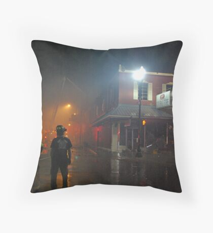 City Drug Fire Night #7 Throw Pillow