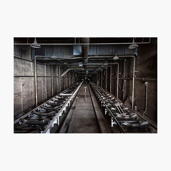 Coal Conveyor Belt Tunnel, Hearn Generating Station, Toronto Photographic Print