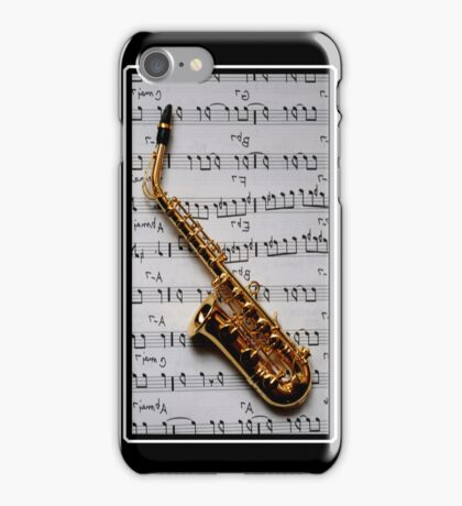 Just One Note Saxophone iPhone Case iPhone Case/Skin