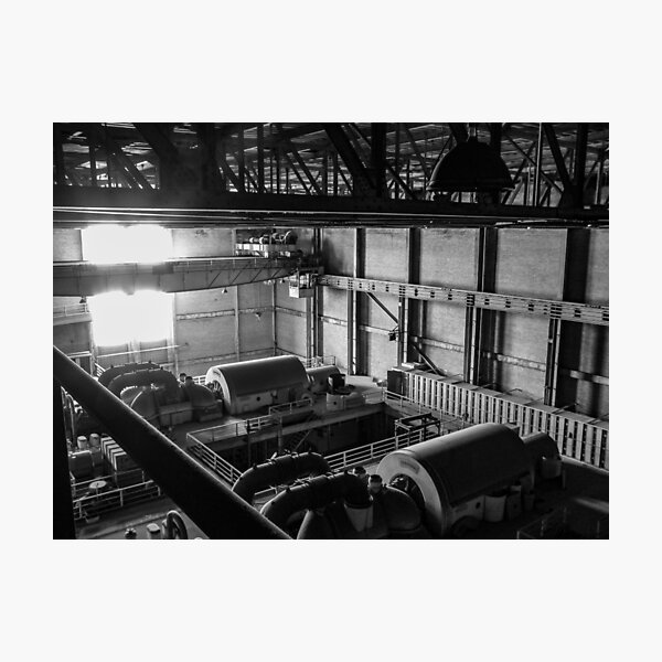 Turbine Room Generators from Above, Hearn Generating Station Photographic Print