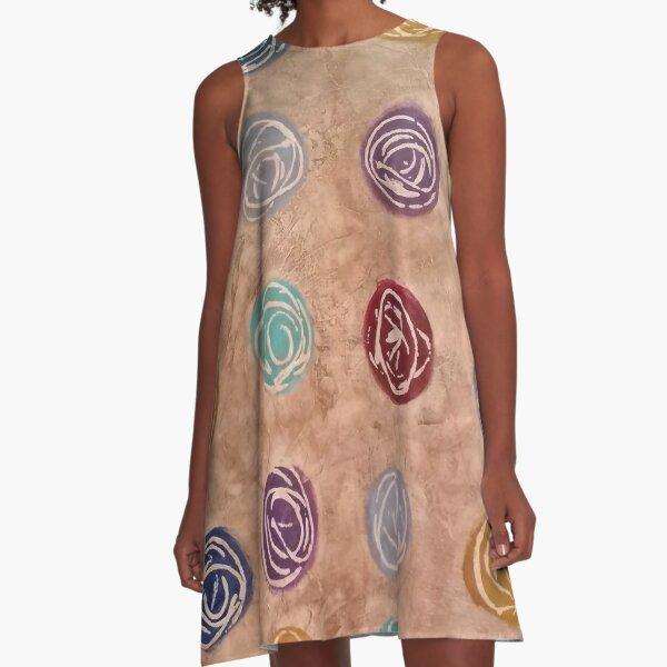 Abstract Organic Circles A-Line Dress