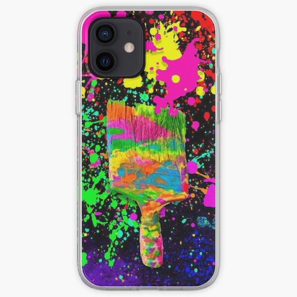 Glow In The Dark Neon Rainbow iPhone Soft Case
