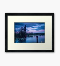 Tranquil Lake Reflections Framed Print