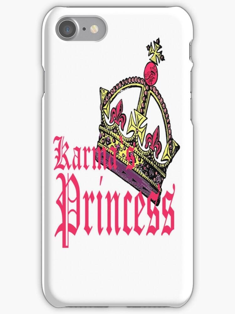 karmas princess IPHONE CASE by Dee-Karma-Arts