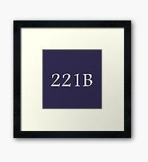 221B - Sherlock Holmes Framed Print