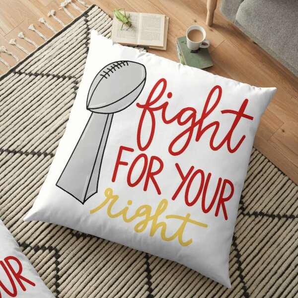 Kansas City Sticker - Fight for your Right Floor Pillow