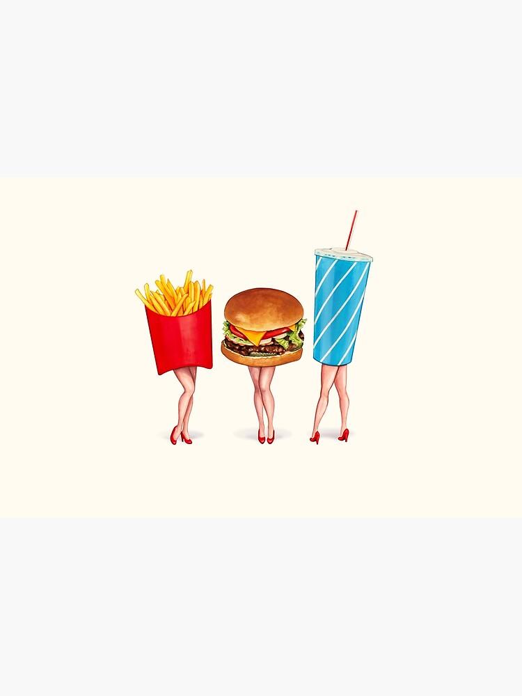 Combo Meal Pin-Ups by KellyGilleran
