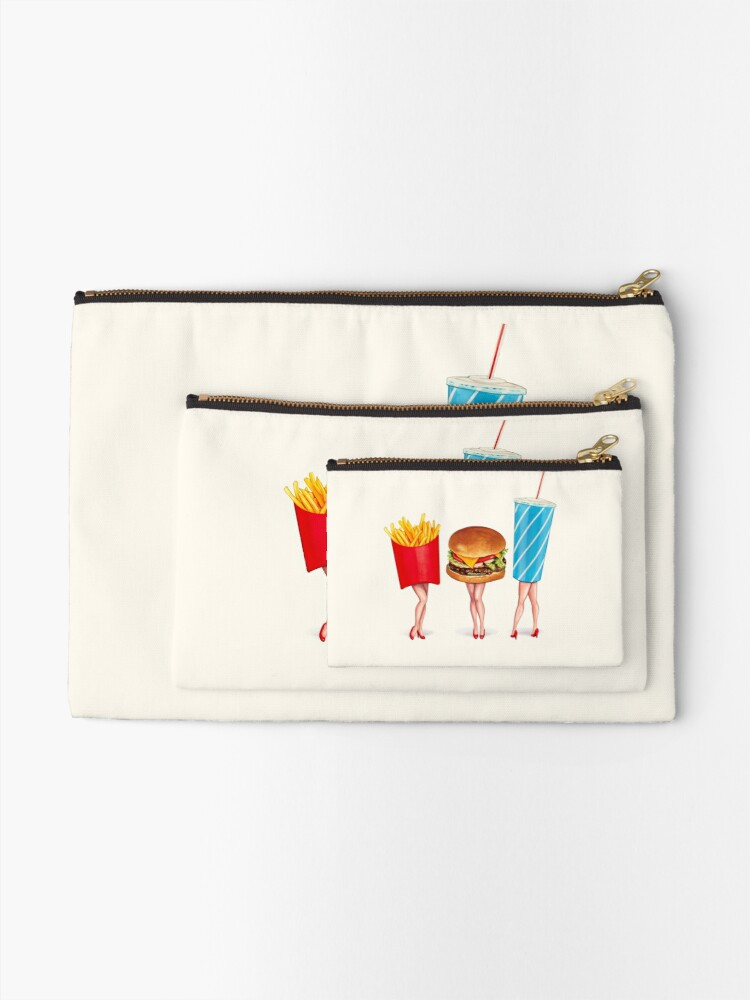 Alternate view of Combo Meal Pin-Ups Zipper Pouch