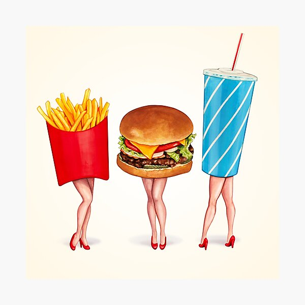 Combo Meal Pin-Ups Photographic Print